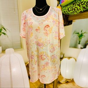 Free People Tourist Tee Pink Floral